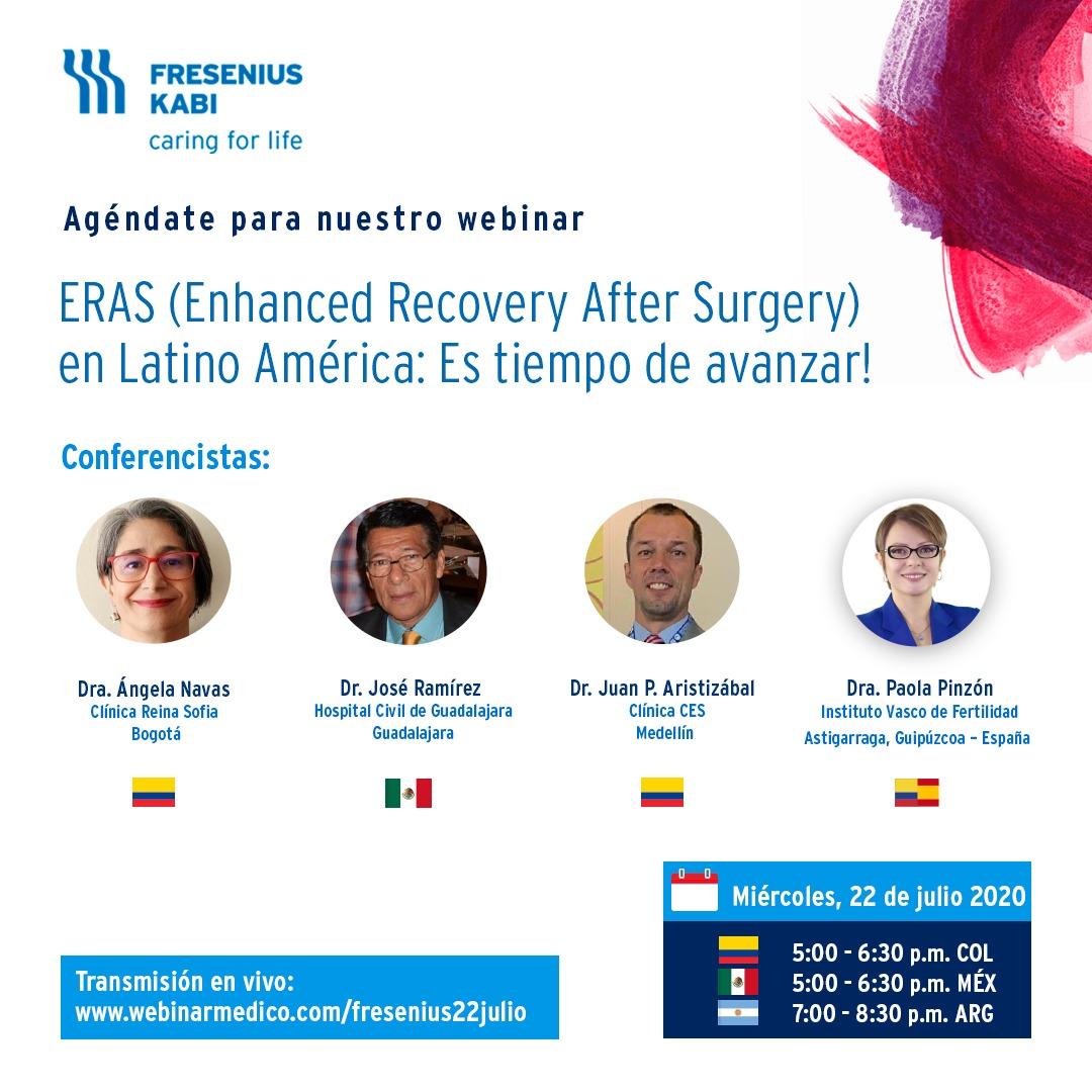 Invitación Webinar Anestesia
